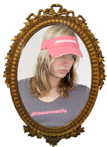 Sarah in Housewife Visor