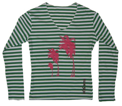 Palm Trees Womens Long Sleeve T-shirt