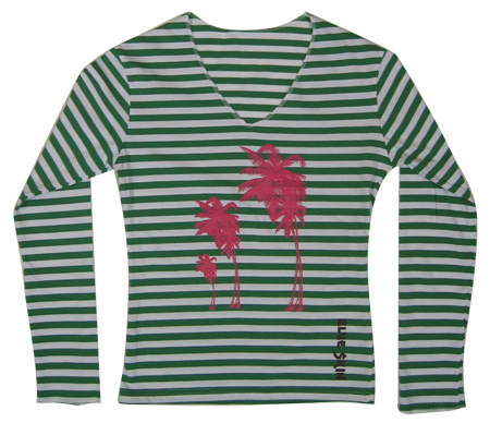 Palm Tree Womens Longsleeve T-shirt
