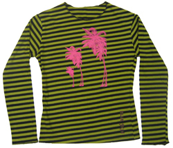 Palm Trees Womens Long Sleeved T-shirt