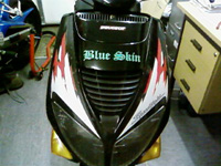 Blueskin Sticker on moped